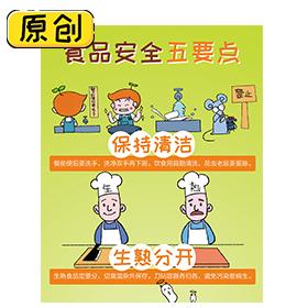 科普漫画:食品安全五要点 (1)