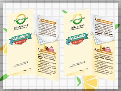 食品添加剂科普折页设计