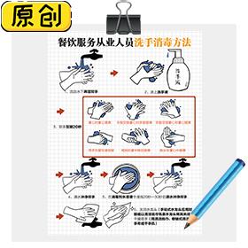 餐饮服务从业人员洗手消毒方法 (1)